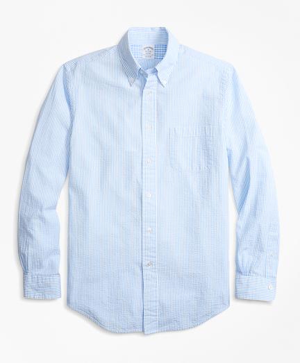 Regent Fit Stripe Seersucker Sport Shirt