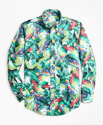 Regent Fit Supima® Bold Tropical Print Sport Shirt