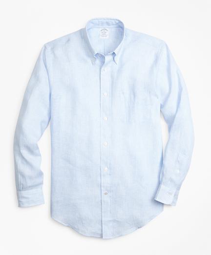 Regent Fit Chambray Stripe Irish Linen Sport Shirt