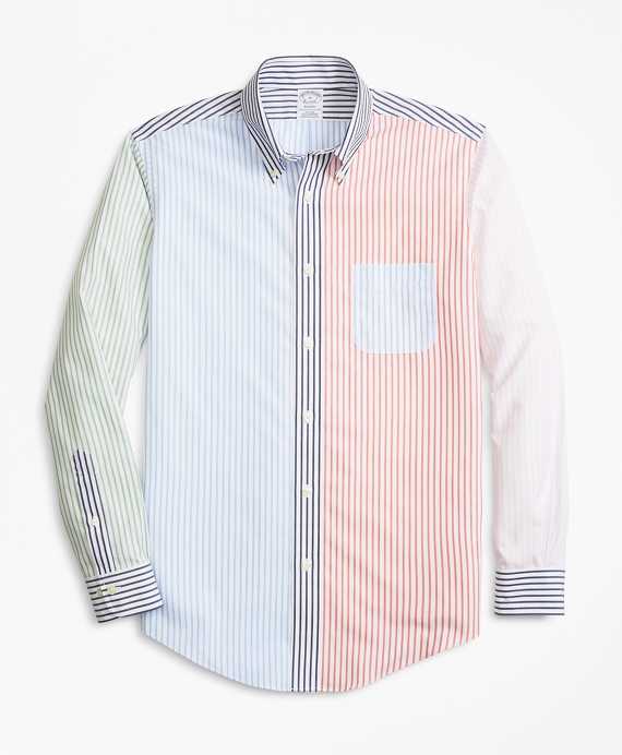 Non-Iron Regent Fit Fun Stripe Sport Shirt Multi