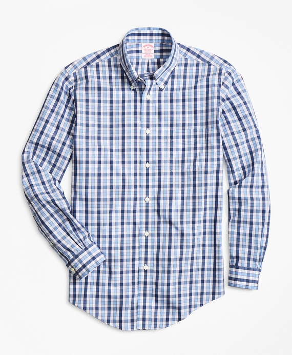 Non-Iron Madison Fit Outline Check Sport Shirt