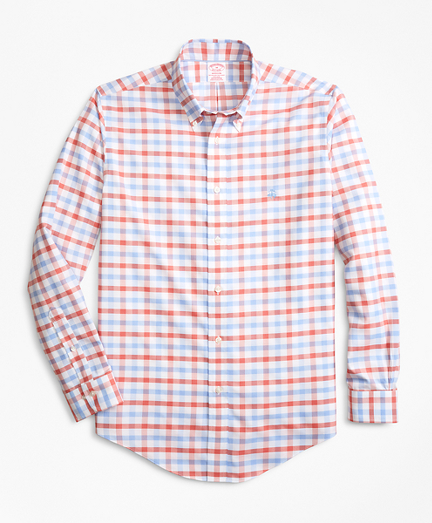 Non-Iron Madison Fit Dobby Gingham Sport Shirt