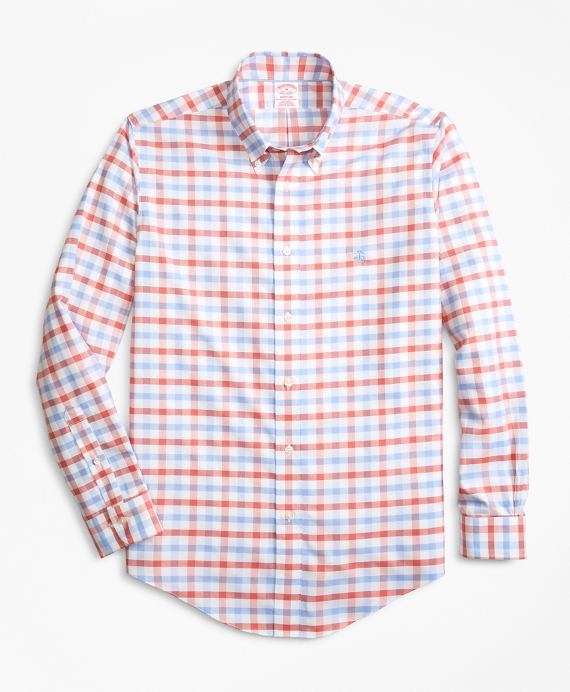 Non Iron Madison Fit Dobby Gingham Sport Shirt by Brooks Brothers