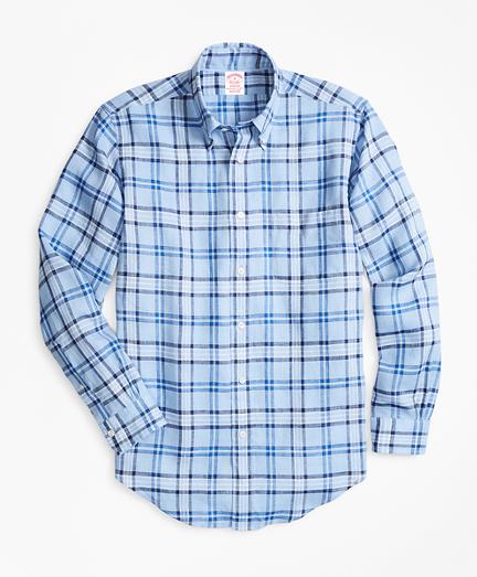 Madison Fit Tartan Irish Linen Sport Shirt
