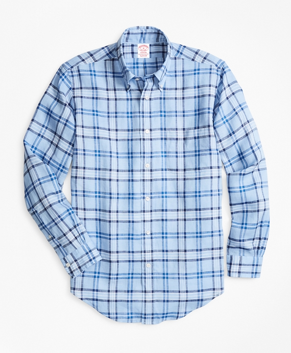 Madison Fit Tartan Irish Linen Sport Shirt