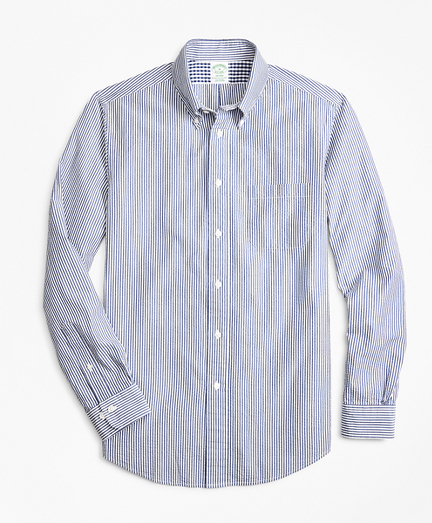 Milano Fit Stripe Seersucker Sport Shirt