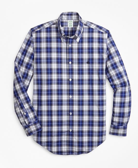Milano Fit Tartan Zephyr Sport Shirt Blue