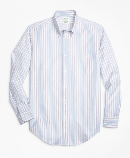 Milano Fit Oxford Double-Stripe Sport Shirt