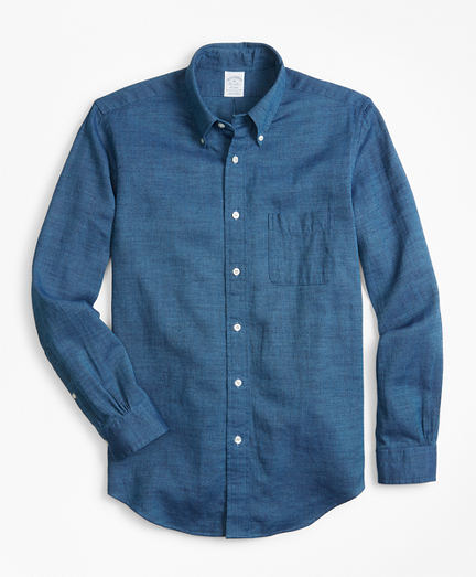 Regent Fit Royal Oxford Indigo Sport Shirt