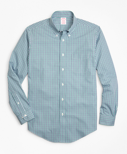 Non-Iron Madison Fit Two-Color Gingham Sport Shirt