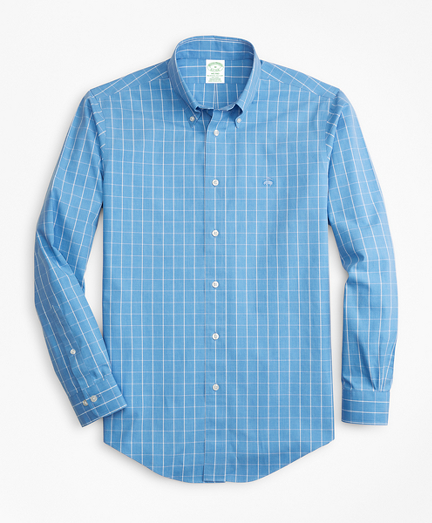Non-Iron Milano Fit Windowpane Sport Shirt