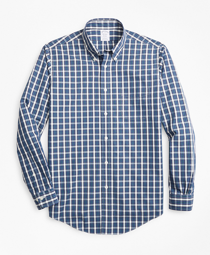 Non-Iron Regent Fit Large Check Sport Shirt