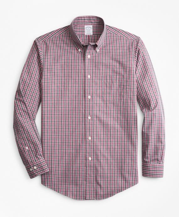 Non-Iron Regent Fit Check Sport Shirt Pink