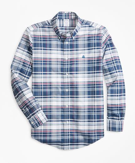 Non-Iron Regent Fit Bold Plaid Sport Shirt