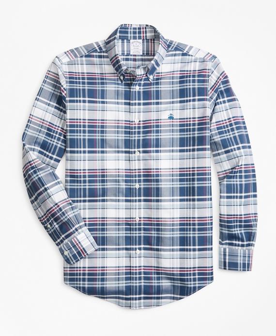 Non-Iron Regent Fit Bold Plaid Sport Shirt Teal