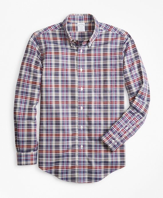 Non-Iron Regent Fit Multi-Plaid Sport Shirt Multi