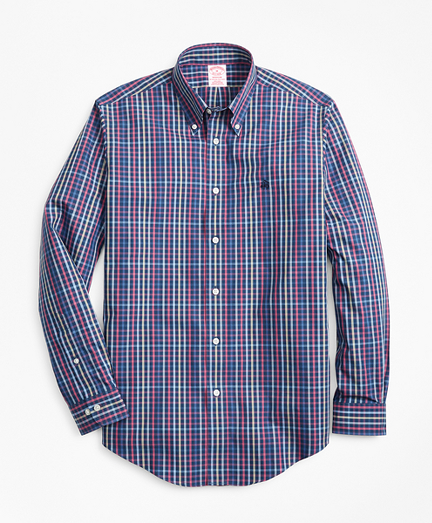 Non-Iron Madison Fit Multi-Plaid Sport Shirt