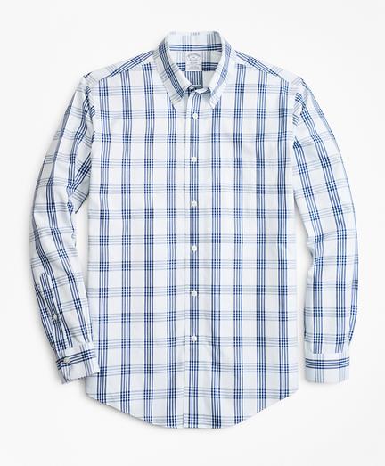 Non-Iron Regent Fit Bold Windowpane Sport Shirt