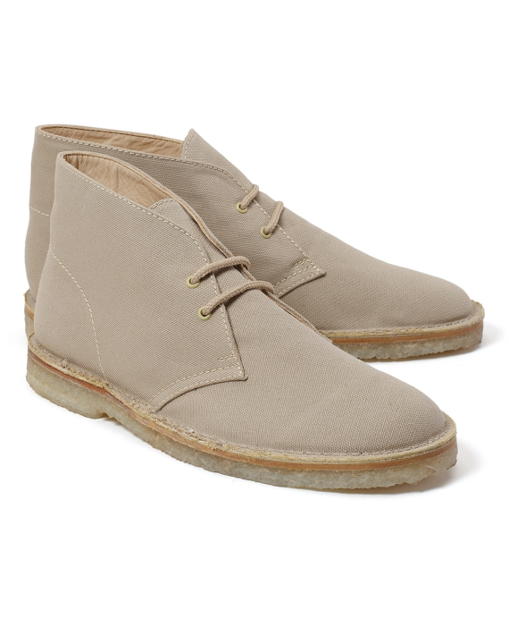 Canvas Chukka Field Boots Tan