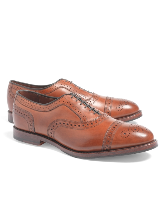 Medallion Perforated Captoes Walnut
