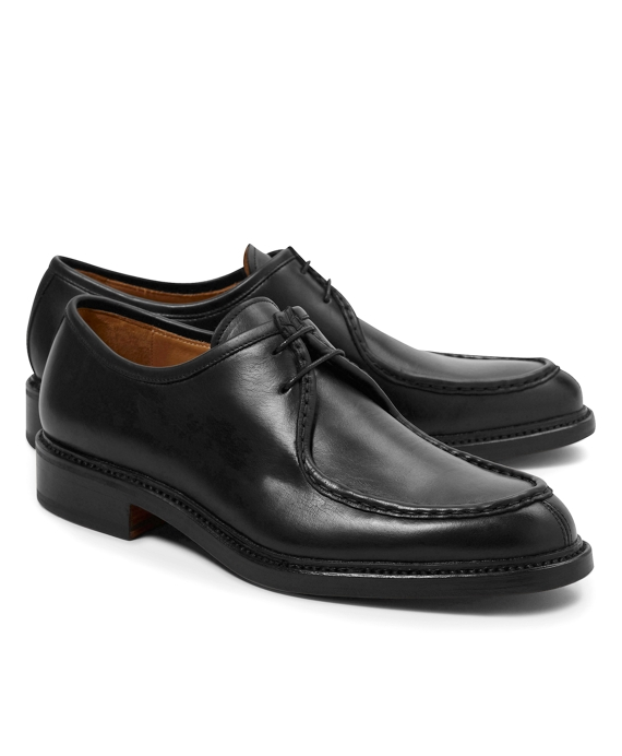Calfskin Split-Toe Bluchers Black