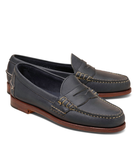 Rancourt & Co Beef Roll Penny Loafers Blue