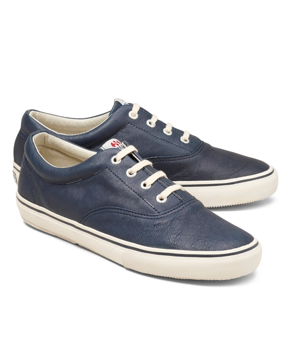 Superga® Leather Sneakers Navy