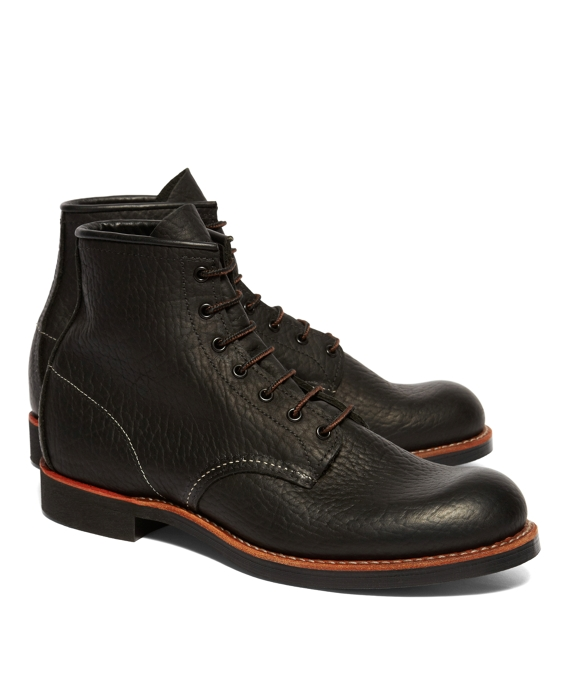 Red Wing for Brooks Brothers Black Bison Plain Toes Black
