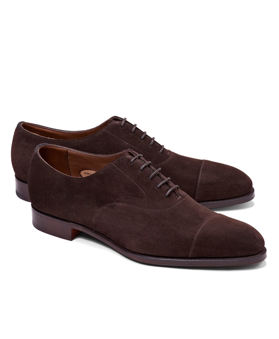 Edward Green Chelsea Suede Captoe Bals Brown