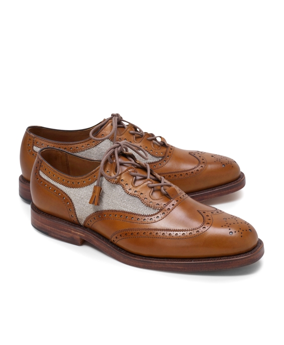 Linen and Leather Wingtips Brown