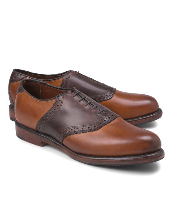 Leather Saddle Shoes Brown