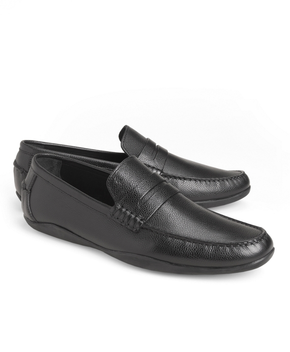 Harrys Of London® Basel Leather Penny Loafers Black