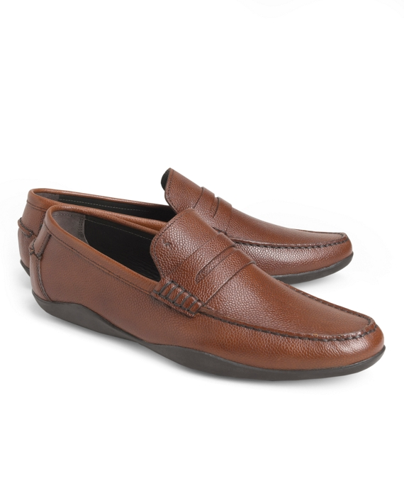 Harrys Of London® Basel Leather Penny Loafers Tan