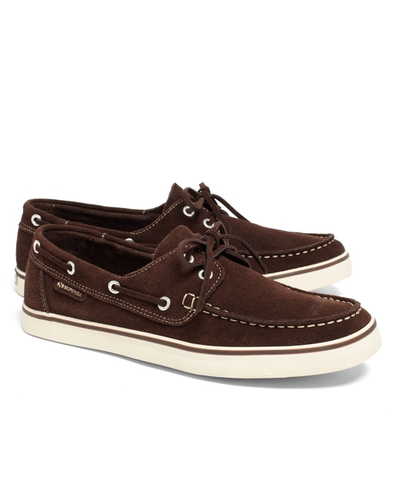 Superga® Suede Boat Shoes Brown