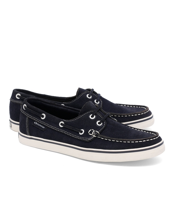 Superga® Suede Boat Shoes Navy