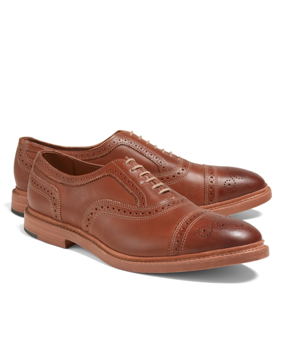 Allen Edmonds for Brooks Brothers Burnished Perforated Captoes Light Brown