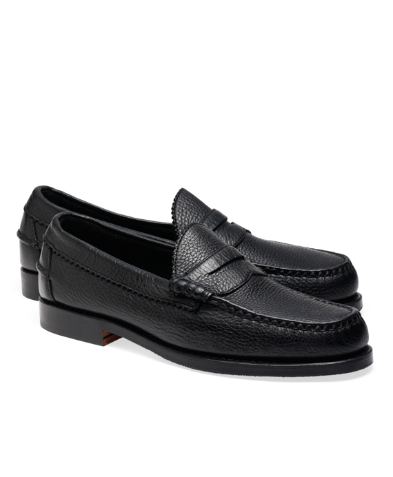 Allen Edmonds Beef Roll Pebble Penny Loafers Black