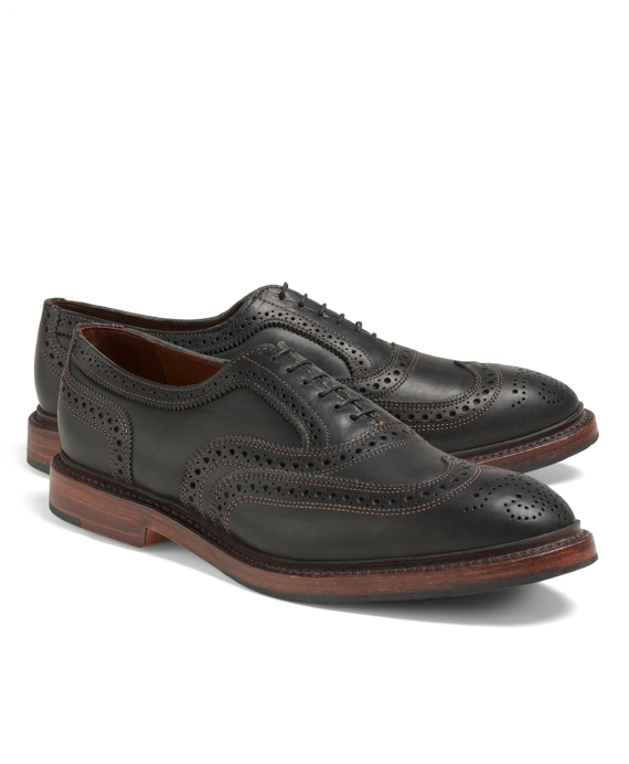 Allen Edmonds Contrast Stitch Wingtips Black
