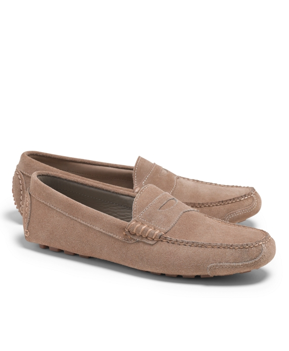 Suede Rough Out Driving Mocs Light Sand