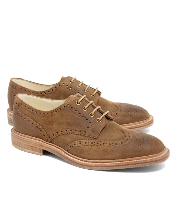 Peal & Co.® Distressed Suede Wingtips Brown