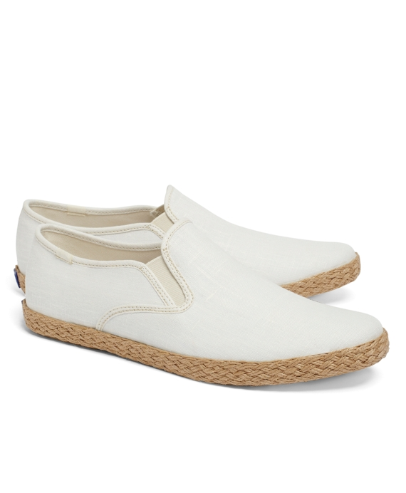 Keds® for Brooks Brothers Linen Espadrilles Ivory