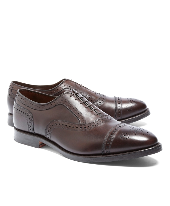 Peal & Co.® Medallion Perforated Captoes Brown