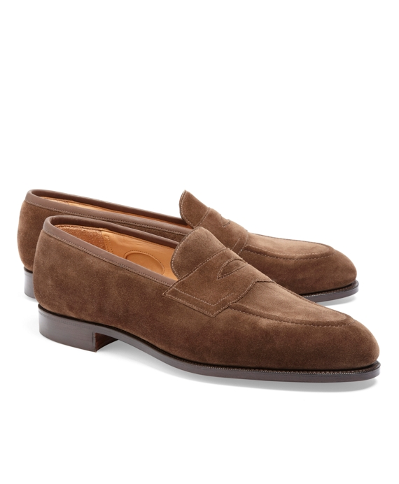 Edward Green Piccadilly Suede Loafers Brown