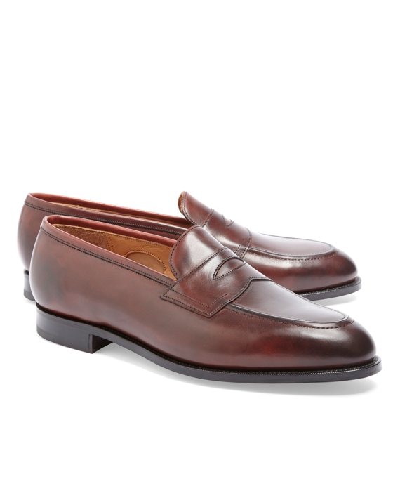 Edward Green Piccadilly Leather Loafers Burgundy