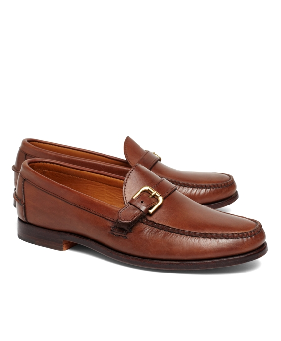 Rancourt & Co Calfskin Buckle Loafers Medium Brown