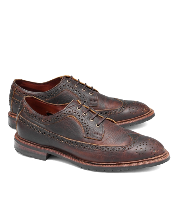 Allen Edmonds Pebble Leather Wingtips Brown
