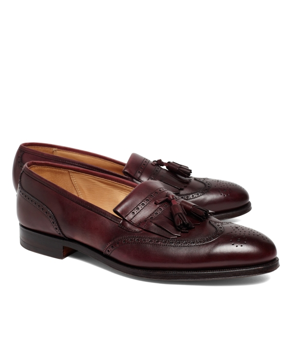 Peal & Co.® Kiltie Tassel Loafers Burgundy