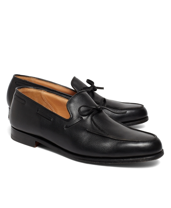 Lightweight Tie Loafers Black Pebble