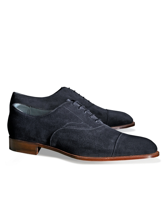 Edward Green Chelsea Suede Captoes Navy