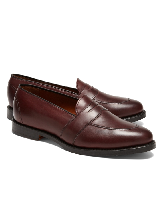 Low Vamp Penny Loafers Burgundy